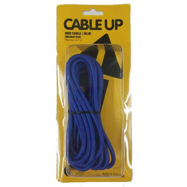 Cable Up CU//MD115//WHI 15 MIDI Male to MIDI Male MIDI Cable White